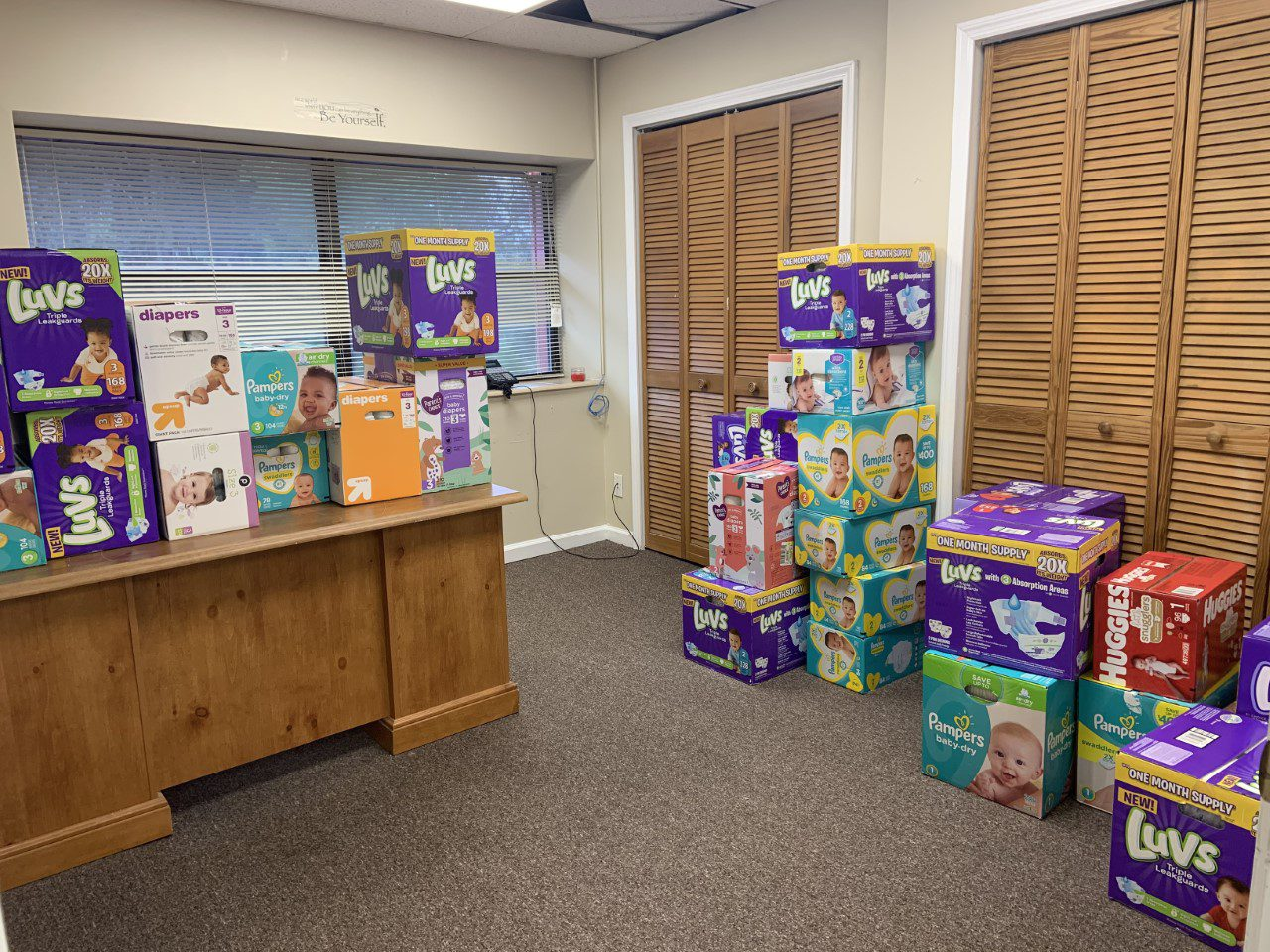 photo of baby diapers donated to Kids First